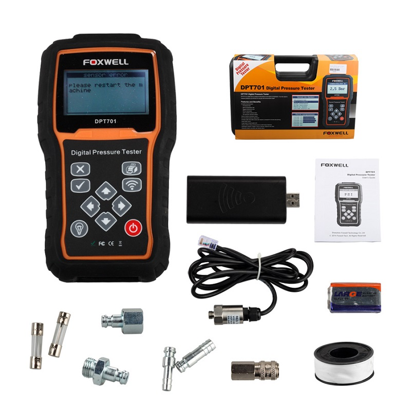Original Foxwell DPT701 Digital Common Rail High Pressure Tester